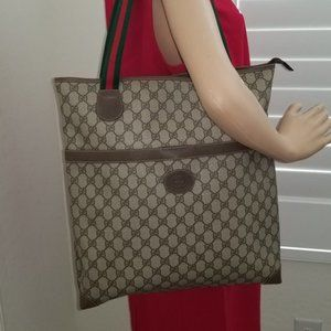 Gorgeous Vintage Gucci Snap Front Zipped Top Tote